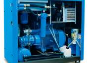 Arreglo compresores de tornillo con aceite