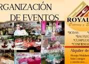 Alquiler y planificaciÓn de eventos
