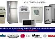 Reparación de electrodomésticos lavadoras, aires acondicionado y refrigeradoras