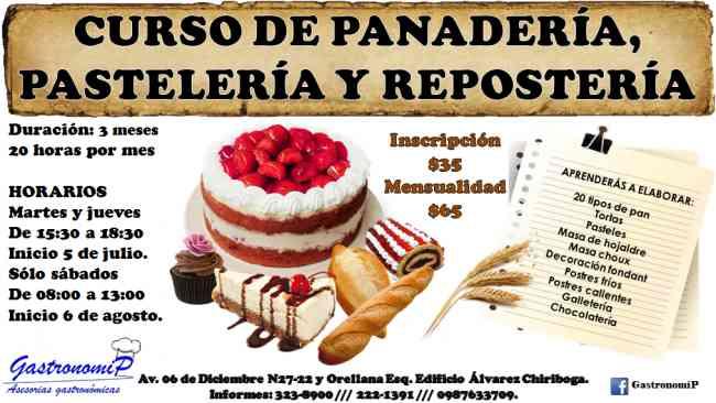 CURSO DE PANADERÍA Y PASTELERÍA