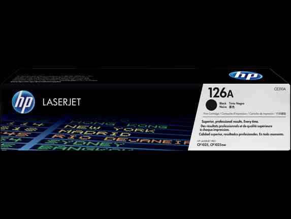 Cartucho de tóner original LaserJet HP 126 A Negro