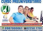Prepara tu ingreso a la universidad