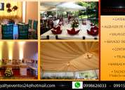 Alquiler, catering, eventos sociales