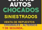 Compro vehiculos chocados - siniestrados - volcados con papeles