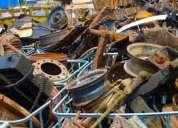 Compro cobre, bronce, aluminio, hierro, chatarra industrial, maquinarias, equipo pesado...