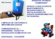 Servicio de mantenimiento , reparacion e instalacion de bombas de agua zambrano