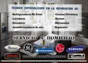 Mantenimiento y reparación de cocinas, refrigeradoras, lavadoras, secadoras, aires acondicionados