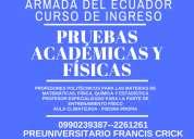 Curso ingreso armada del ecuador. 0990239387 pruebas académicas y físicas