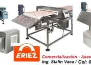 Linea eriez usa de detector de metales ferrosos-no ferrosos y acero inoxidable