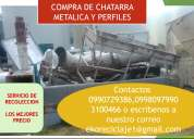 Compro chatarra metalica