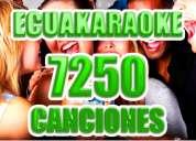 Ecuakaraoke 7250 canciones