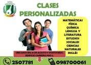 Clases de nivelación personalizadas 0987000061