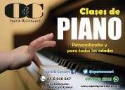 Clases de música, piano, canto, guitarra, batería, violín.