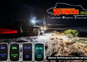 Switch 4x4 off road para encender las barras y focos leds mayor y detal