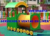 Juegos infantiles , toboganes, resbaladeras para todo el ecuador