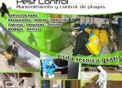 Servicio de fumigacion y control de plagas urbanas