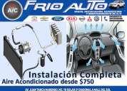 Instalación de aire acondicionado para toda marca de vehiculos