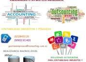 Soluciones contables, tributarias, anexos sri, administración de nómina y modelos financieros
