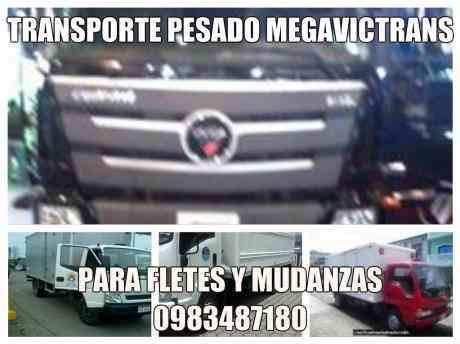 TRANSPORTE de carga pesada, mudanza en Quito Y A NIVEL NACIONAL