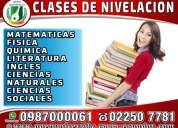 Nivelaciones academicas para supletorios, ingles, fisica, quimica, matematicas cursos de computacion