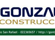 Construcciones, remodelaciones, obra civil
