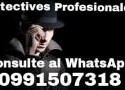 Corporacion de investigadores privados trabajos garantizados y eficaz consulte al whatsap 0991507318