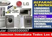 Atención inmediata 0998599997 servicio técnico en linea blanca y electrónica a domicilio