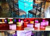 Mesas con luz led para invitados en guayaquil