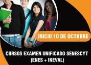 cursos examen unificado senescyt enes ineval cuenca