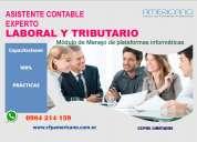 Capacitación práctica asistente contable y tributario