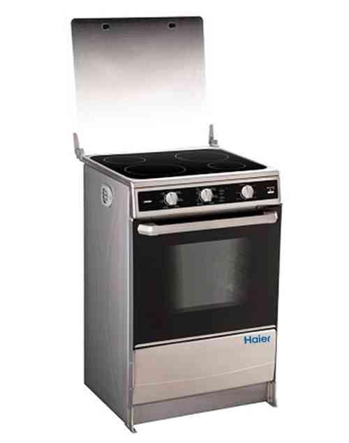 Cocina de inducci n de cuatro zonas con horno haier for Cocina induccion con horno