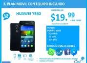 El plan cnt ideal para ti con equipo móvil incluido huawei y360