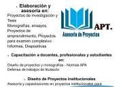 Asesoría diseño de proyectos y tesis en ambato