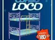 !!! remate !!! camas literas metÁlicas toda medida !!! distribuidor mayorista !!! $ 125.00 !!!