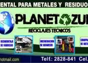 Compra y venta de chatarra cobre bronce aluminio desmantelamientos industriales