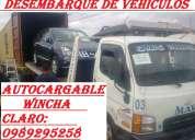 Wincha y grua para el desembarque de vehiculos y maquinas que estan en containers al peso
