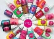Kit de 30 pinturas acrilicas de la marca deko uñas