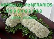 Arreglo floral de cruz condolencias funerales funebre