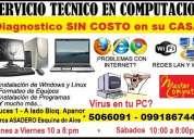 servicio tecnico de computacion, mantenimiento, reparacion