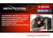 Mantenimiento preventivo y correctivo para computadoras y laptops