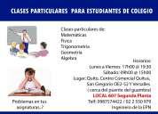 Clases particulares para estudiantes de colegio