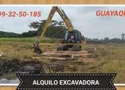 Alquilo excavadora 0993250185