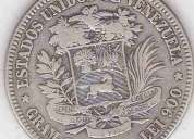 monedas de plata de venezuela 5,2,1 bs