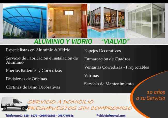 ACEROS ALUMINIO Y VIDRIO VIALVID