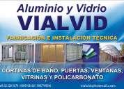 Divisiones para oficinas en aluminio y vidrio