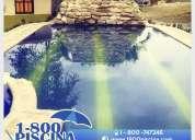 Se viene el calor... llama gratis a 1-800 piscina construye tu piscina en casa