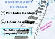 clases particulares de piano/organo (tambien a domicilio)