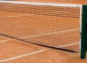 Cerramiento en malla de nylon para canchas de tennis