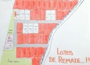 Excelente terrenos de remate de 200 m2