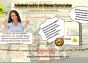 Administración de condominios y conjuntos residenciales.